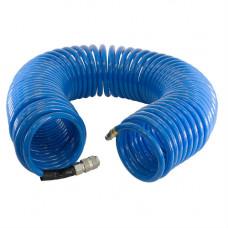 Шланг спиральный с фитингами рапид, полиуретан, 15бар, 8x12мм, 20м Fubag