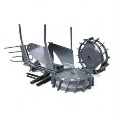 Комплект  навесного оборудования MAXI CAIMAN (окучник, плуг, выкапыв., сцепка, удл., колеса)