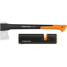 Топор-колун FISKARS X17М  + точилка для топоров и ножей